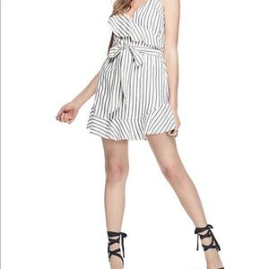 Guess Stripe Wrap Dress